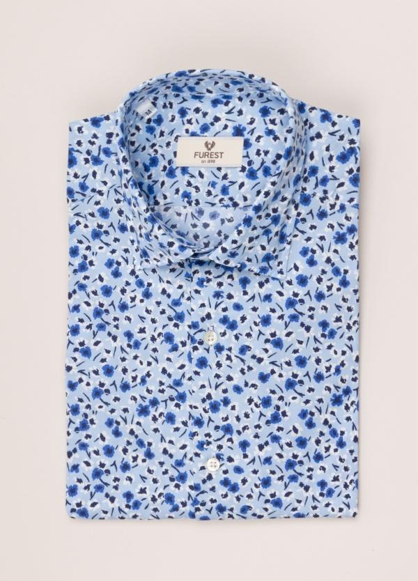 Camisa sport FUREST COLECCIÓN SLIM FIT flores azul