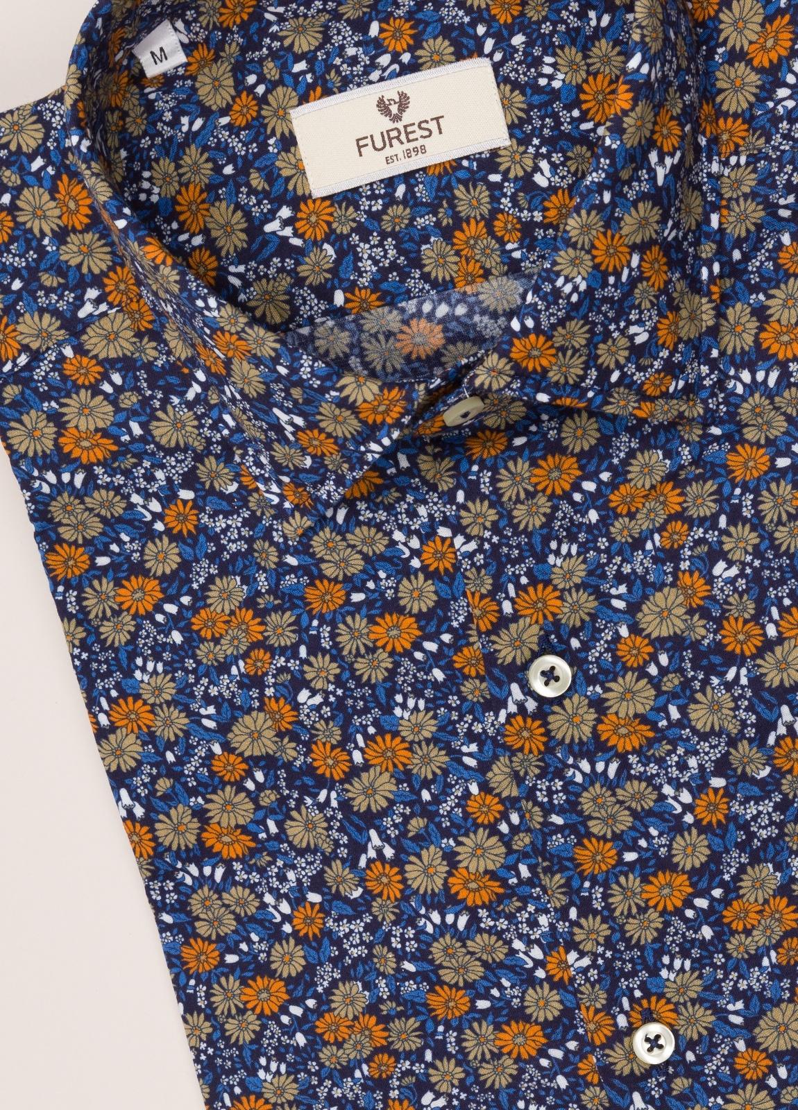 Camisa sport FUREST COLECCIÓN SLIM FIT flores azul - Ítem2