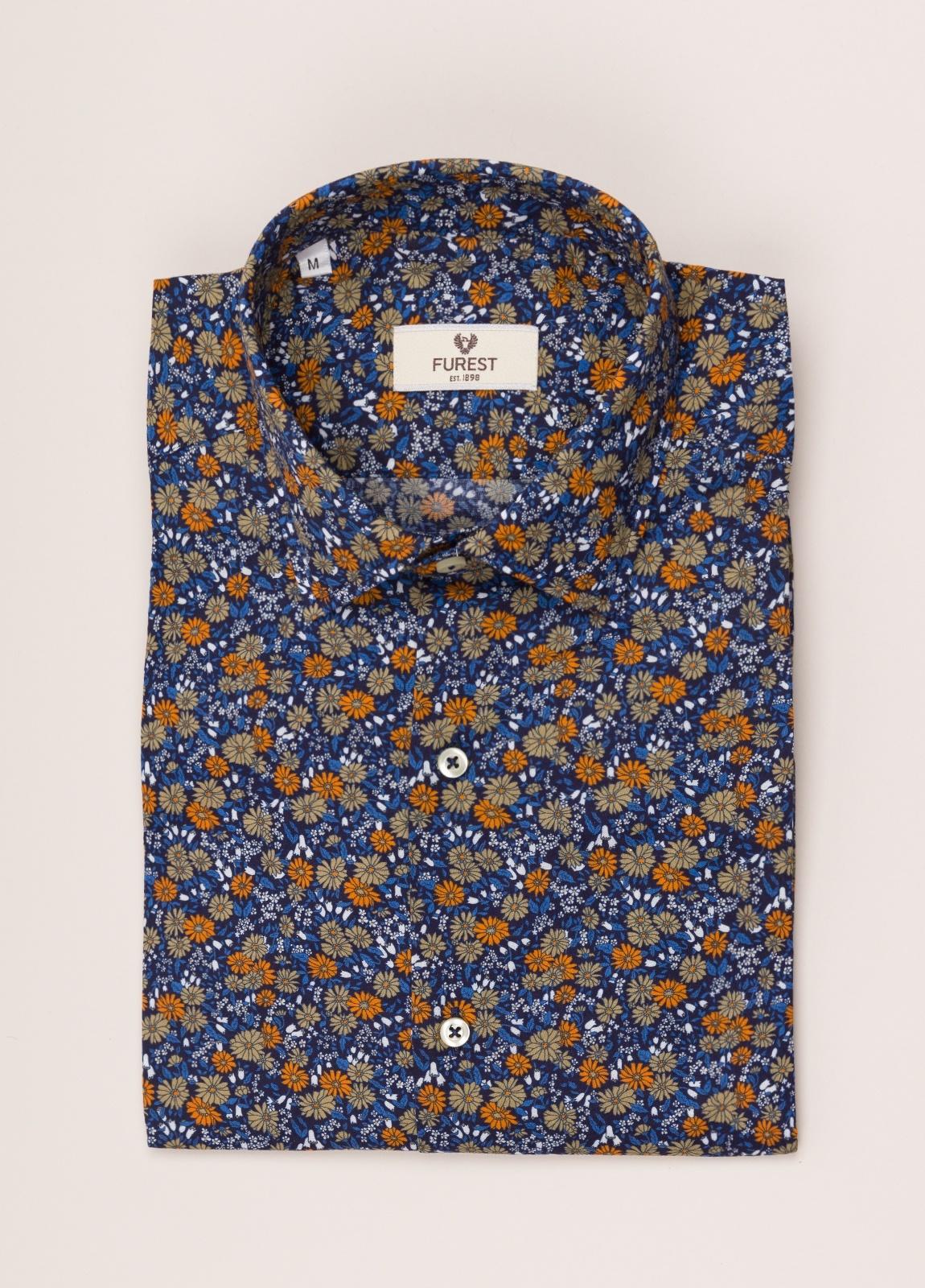 Camisa sport FUREST COLECCIÓN SLIM FIT flores azul - Ítem4