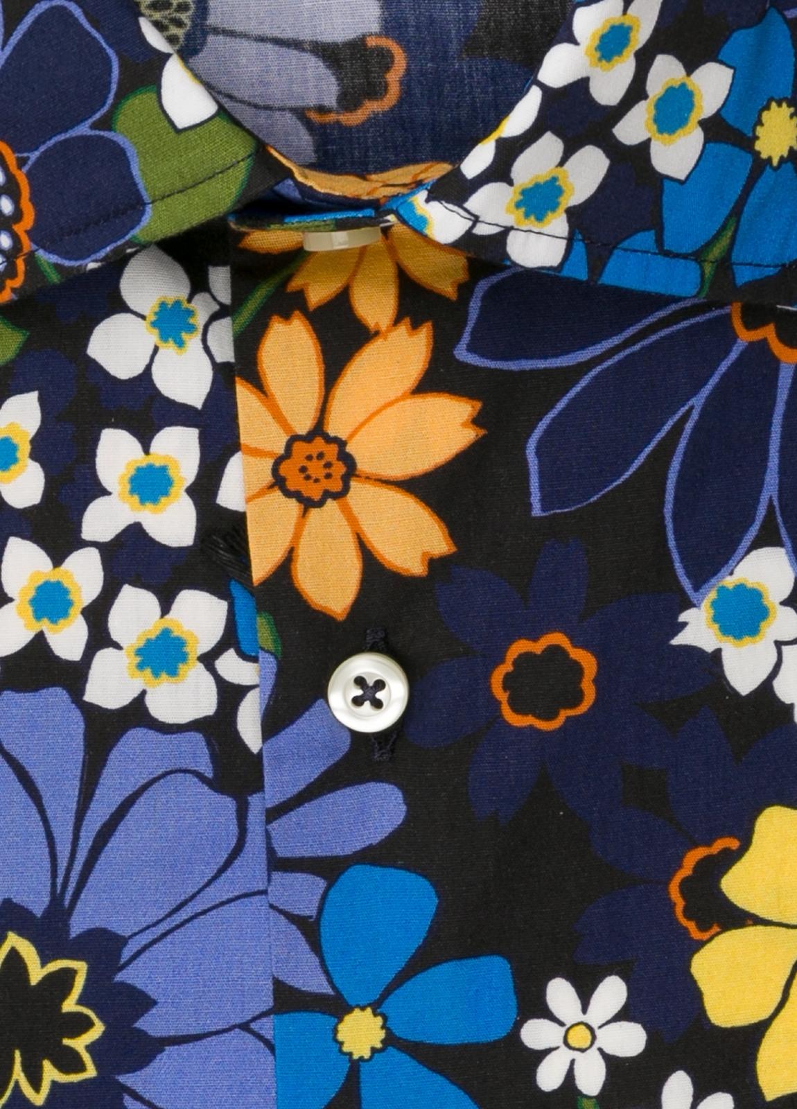 Camisa sport FUREST COLECCIÓN SLIM FIT flores azul - Ítem1