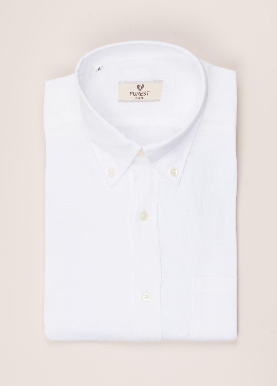 Camisa sport FUREST COLECCIÓN REGULAR FIT Lino blanco
