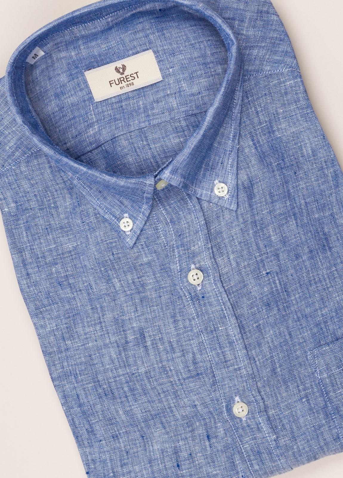 Camisa sport FUREST COLECCIÓN REGULAR FIT Lino azul - Ítem2
