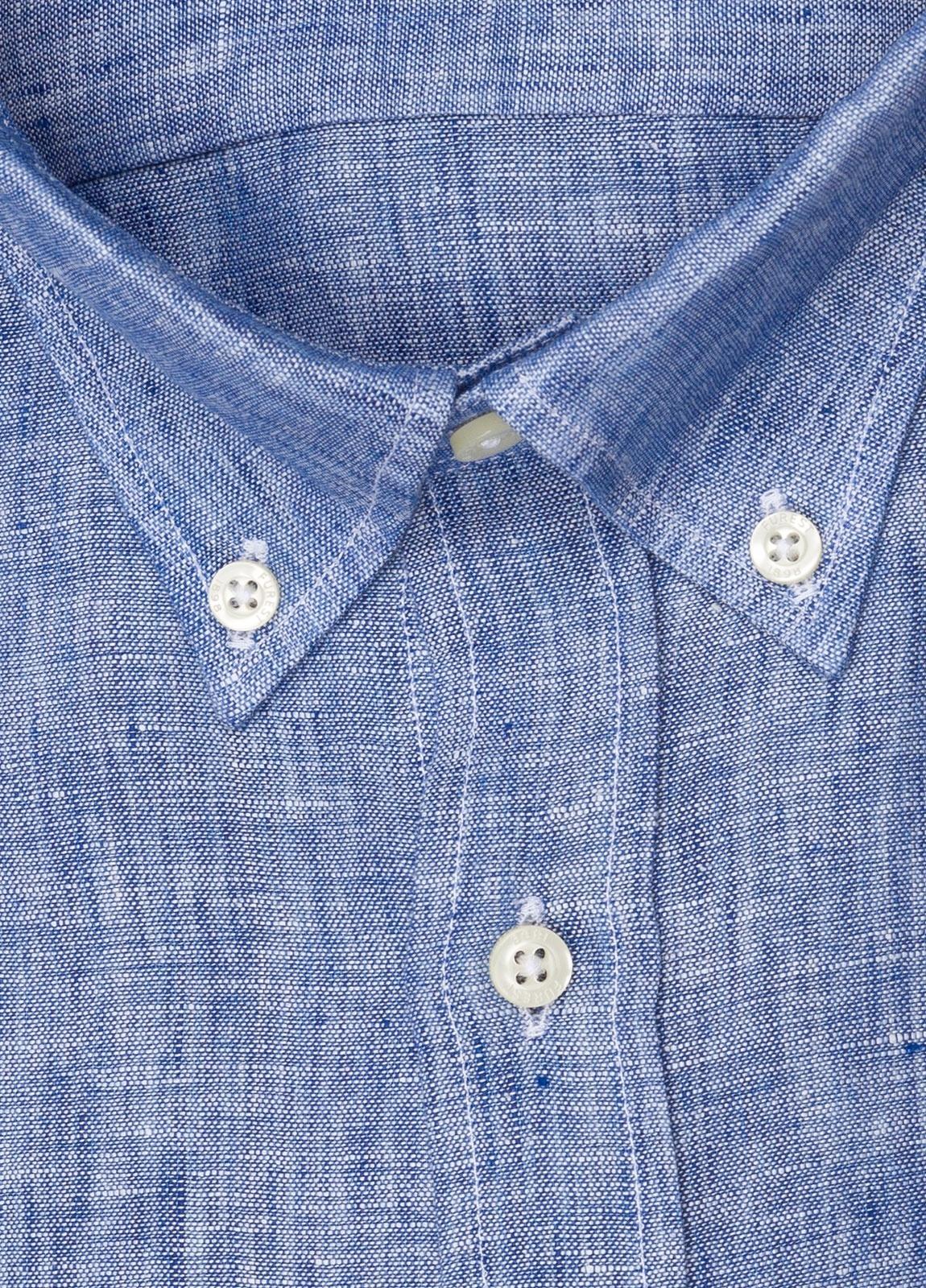 Camisa sport FUREST COLECCIÓN REGULAR FIT Lino azul - Ítem1