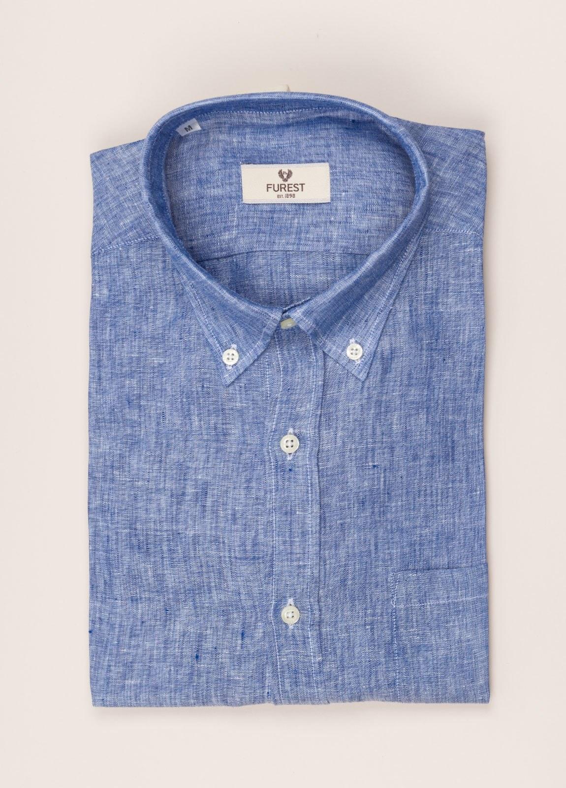 Camisa sport FUREST COLECCIÓN REGULAR FIT Lino azul