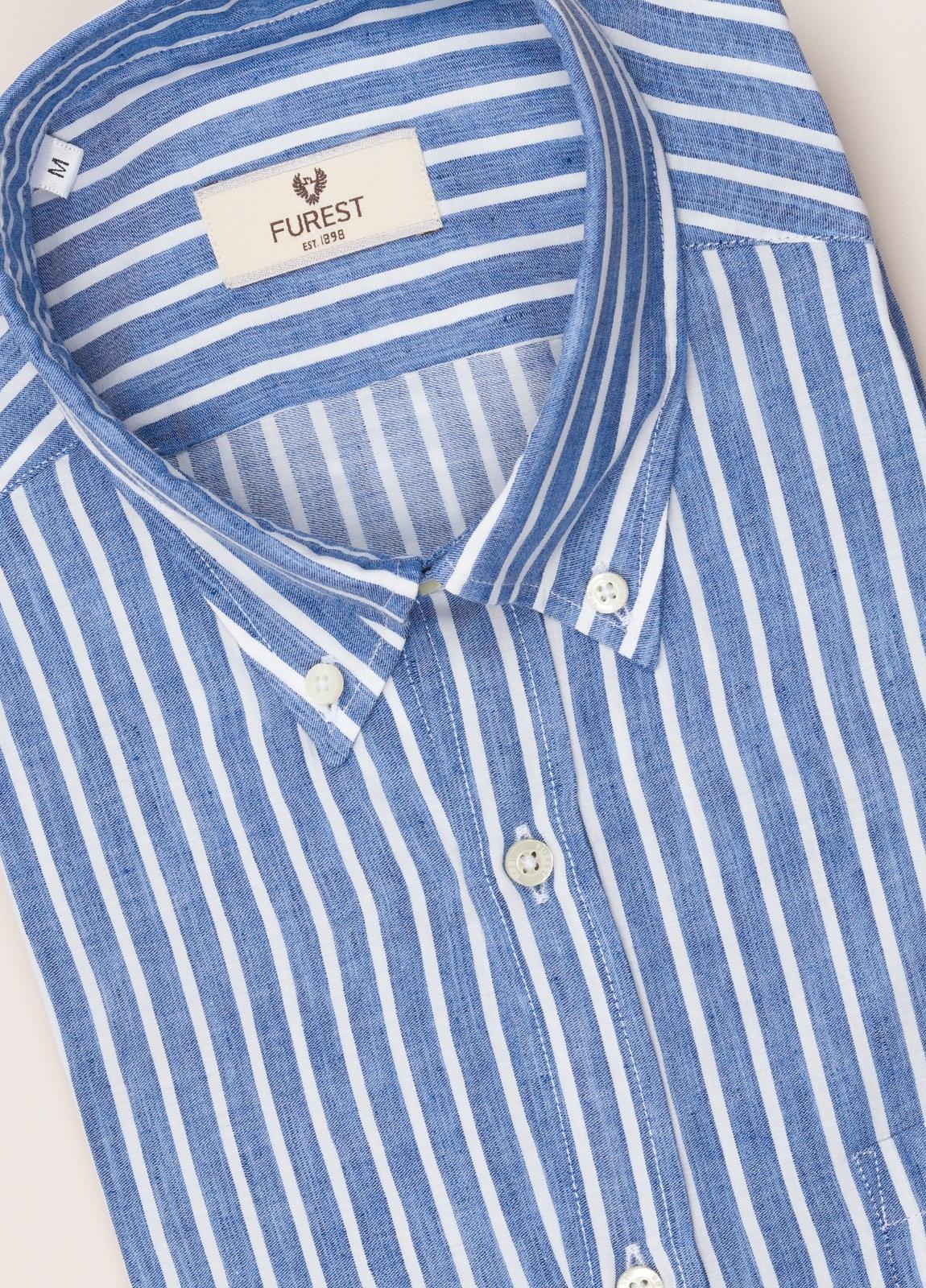 Camisa sport FUREST COLECCIÓN REGULAR FIT rayas azul - Ítem1