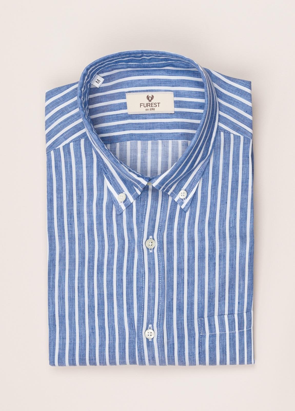 Camisa sport FUREST COLECCIÓN REGULAR FIT rayas azul