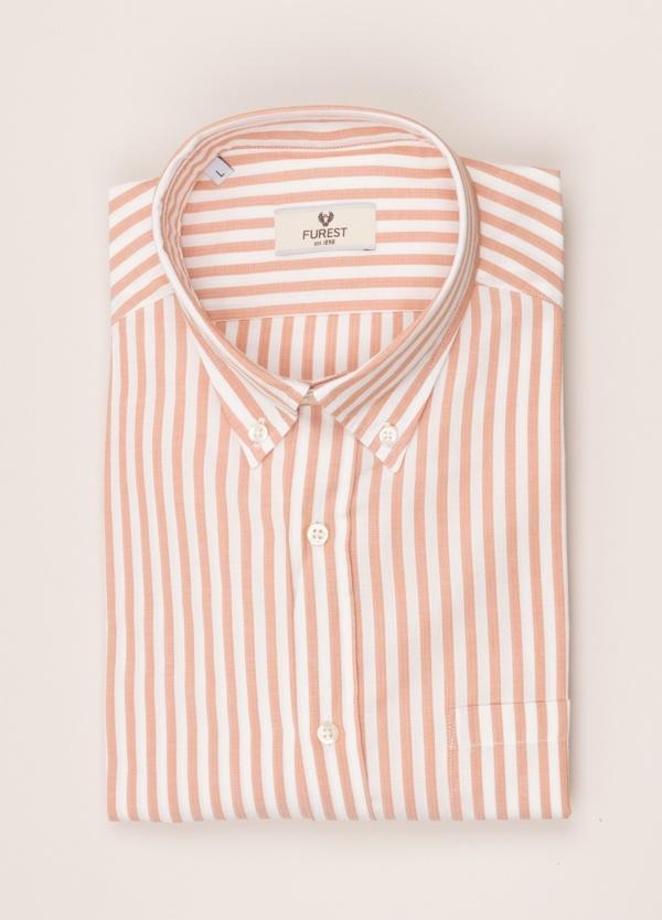 Camisa sport FUREST COLECCIÓN REGULAR FIT raya rosa.