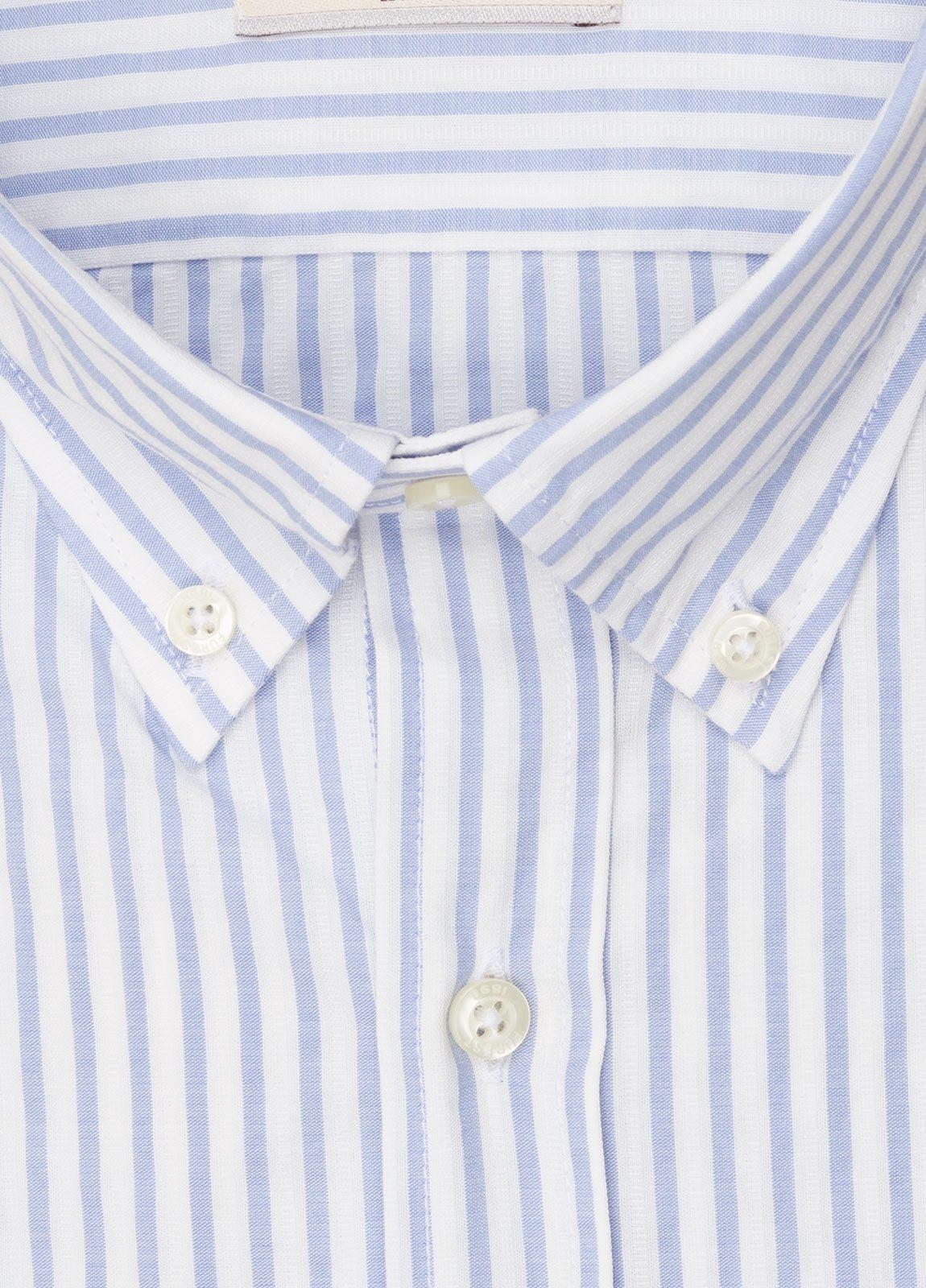 Camisa sport FUREST COLECCIÓN REGULAR FIT rayas celeste - Ítem1