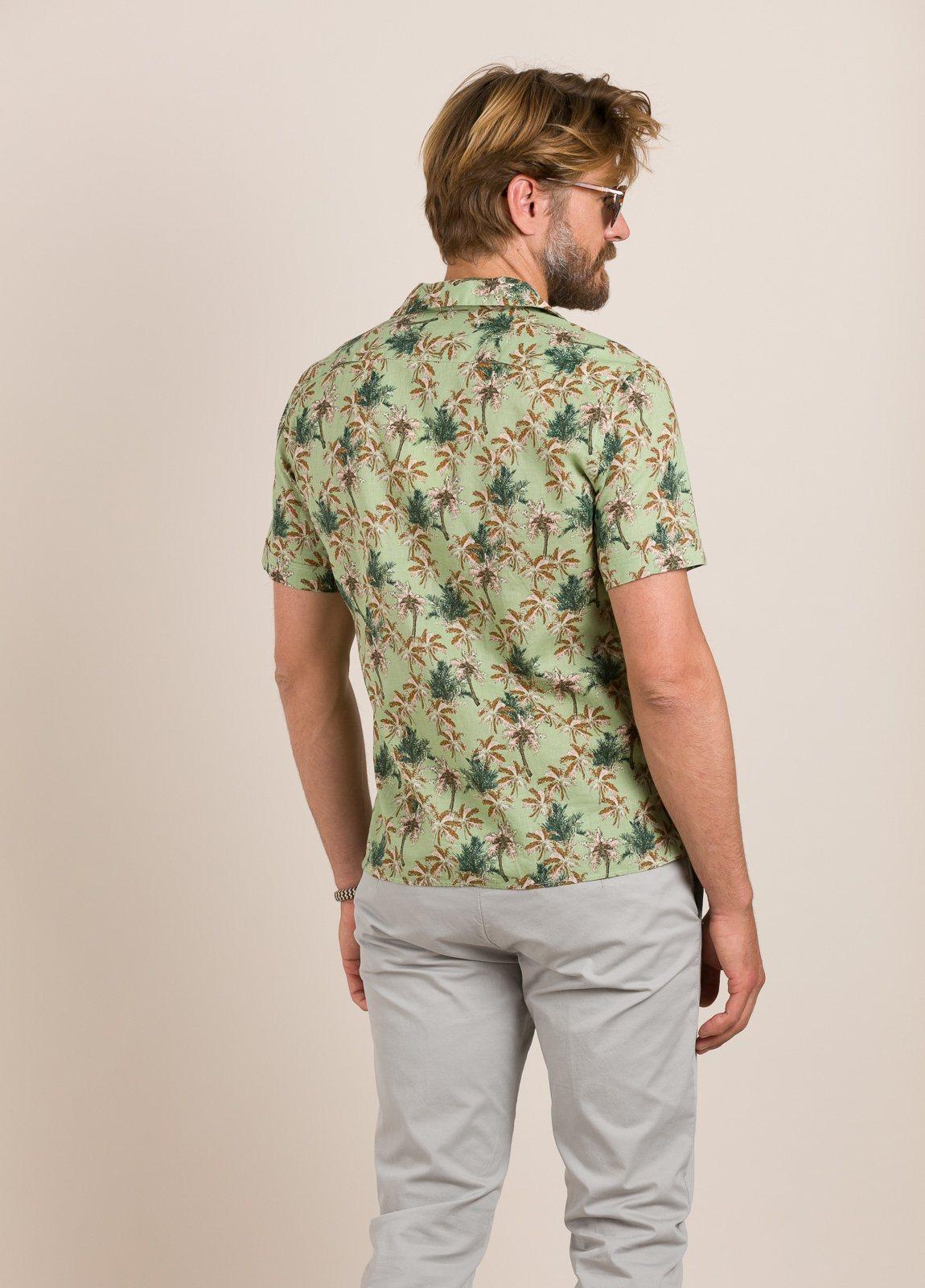 Camisa sport FUREST COLECCIÓN modelo HAWAI verde - Ítem5