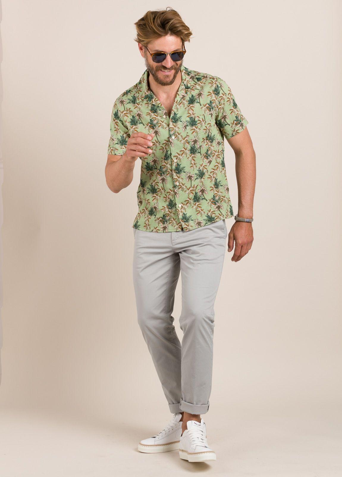 Camisa sport FUREST COLECCIÓN modelo HAWAI verde - Ítem4