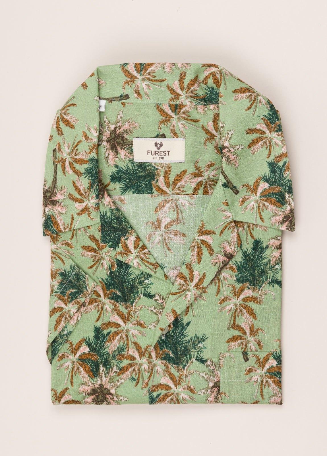 Camisa sport FUREST COLECCIÓN modelo HAWAI verde - Ítem3