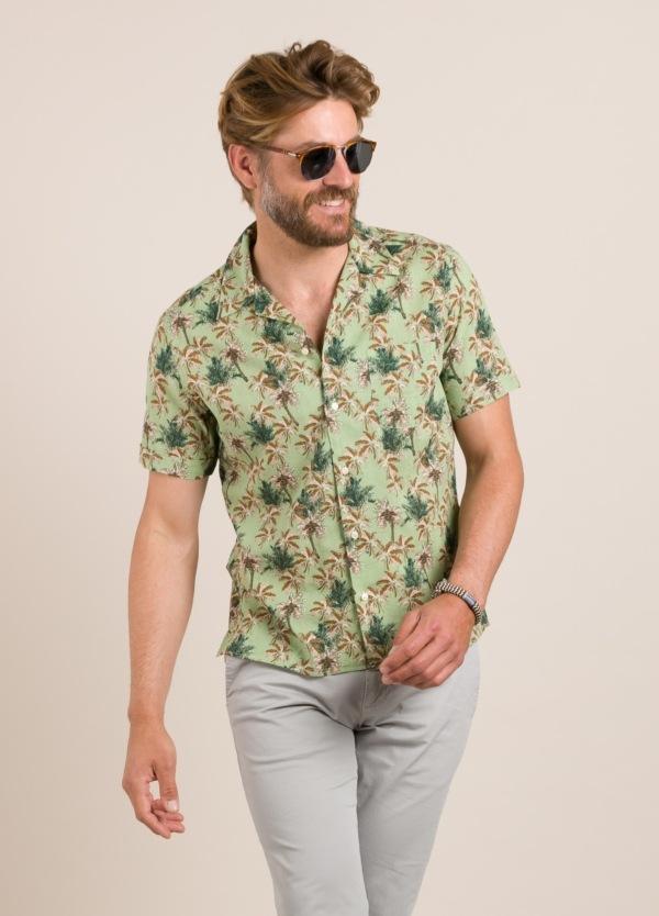 Camisa sport FUREST COLECCIÓN modelo HAWAI verde