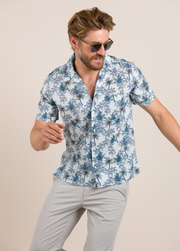 Camisa sport FUREST COLECCIÓN modelo HAWAI azul