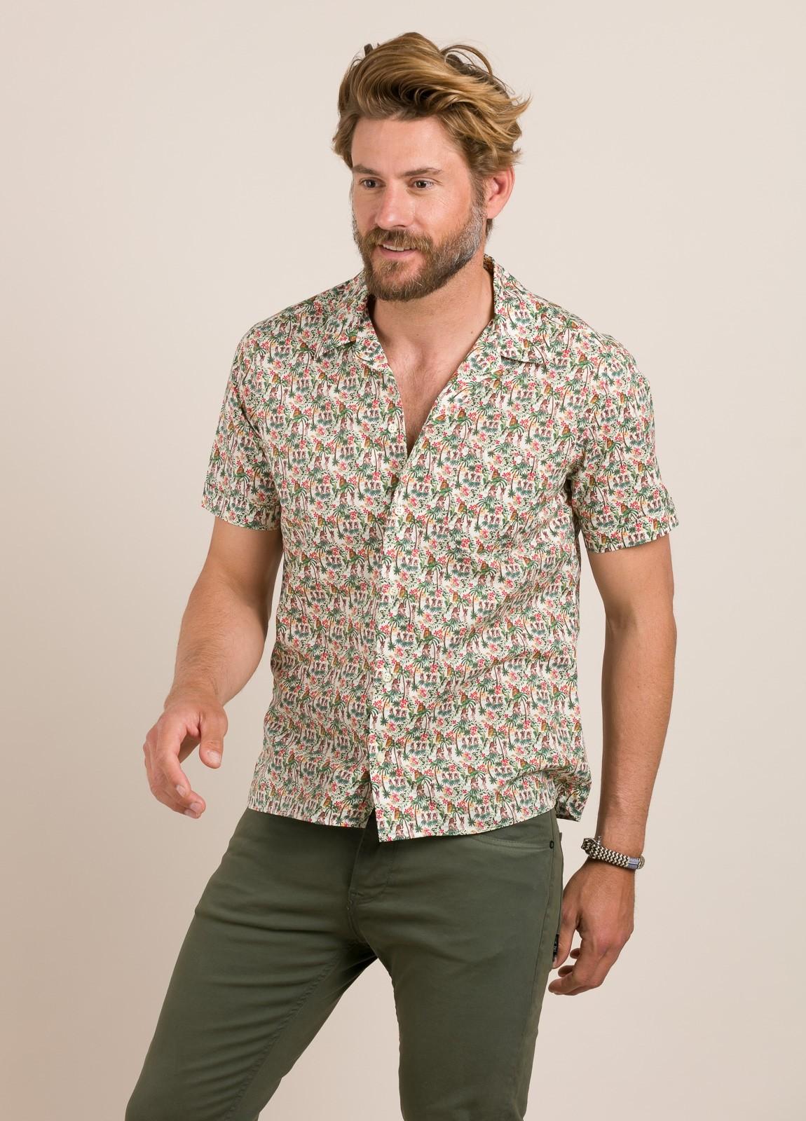 Camisa sport FUREST COLECCIÓN modelo HAWAI TOM crudo