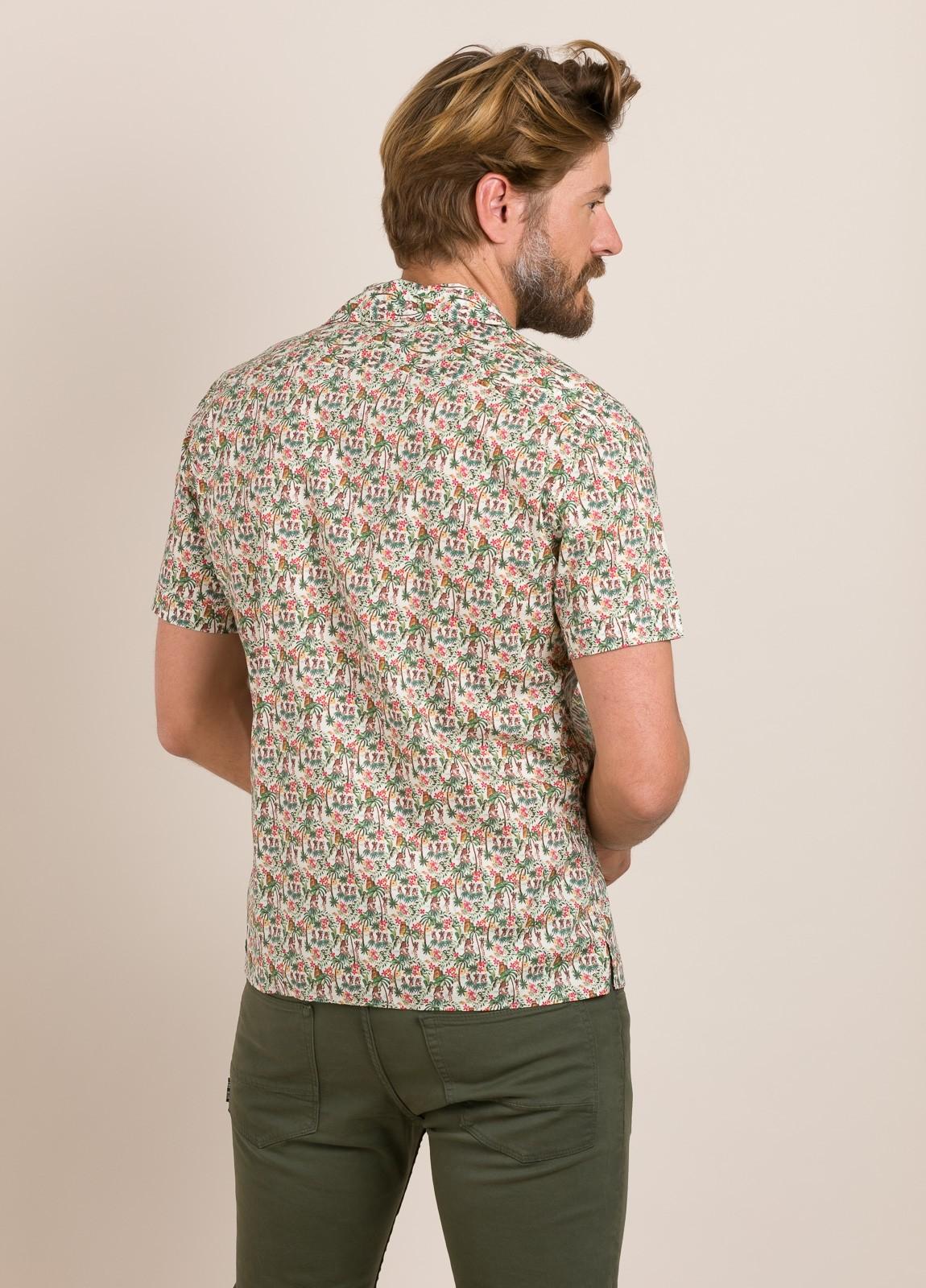 Camisa sport FUREST COLECCIÓN modelo HAWAI TOM crudo - Ítem2