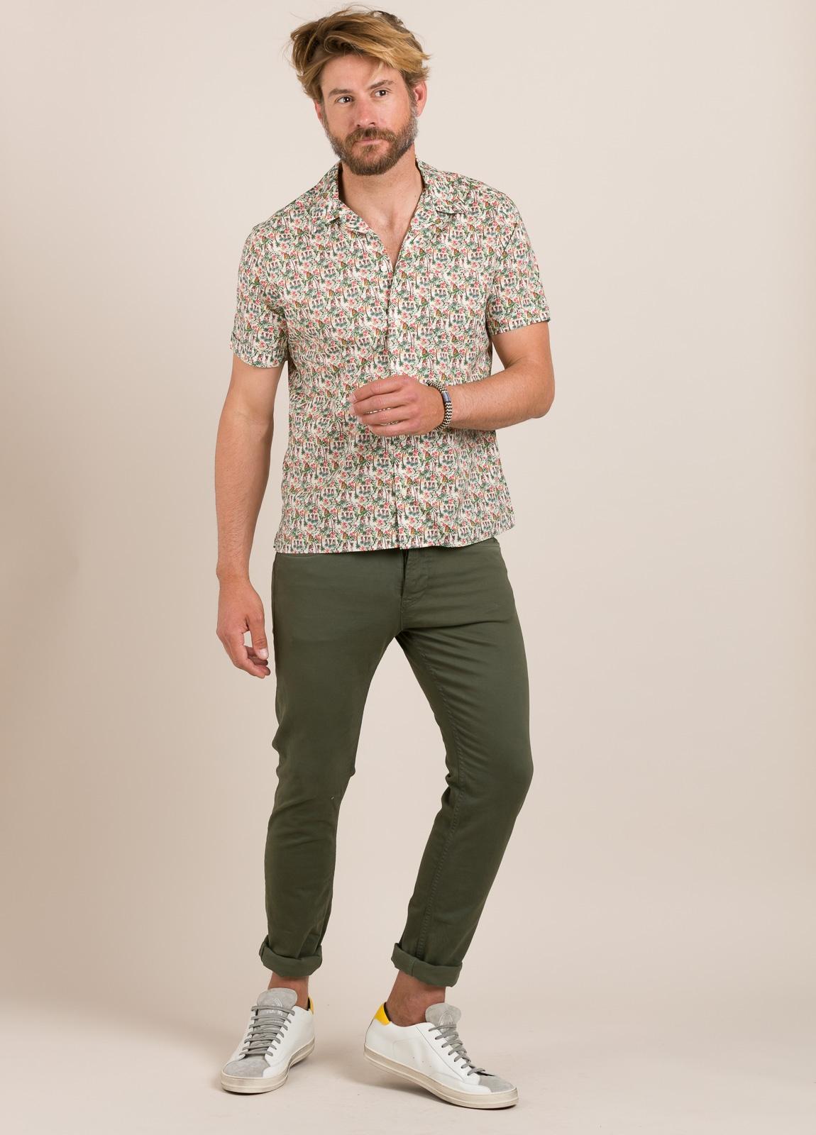 Camisa sport FUREST COLECCIÓN modelo HAWAI TOM crudo - Ítem1