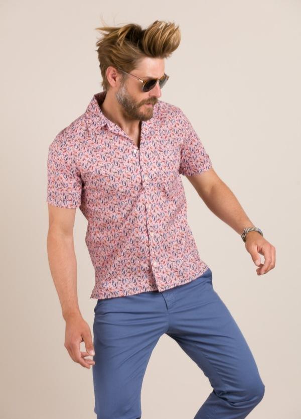 Camisa sport FUREST COLECCIÓN modelo HAWAI rosa