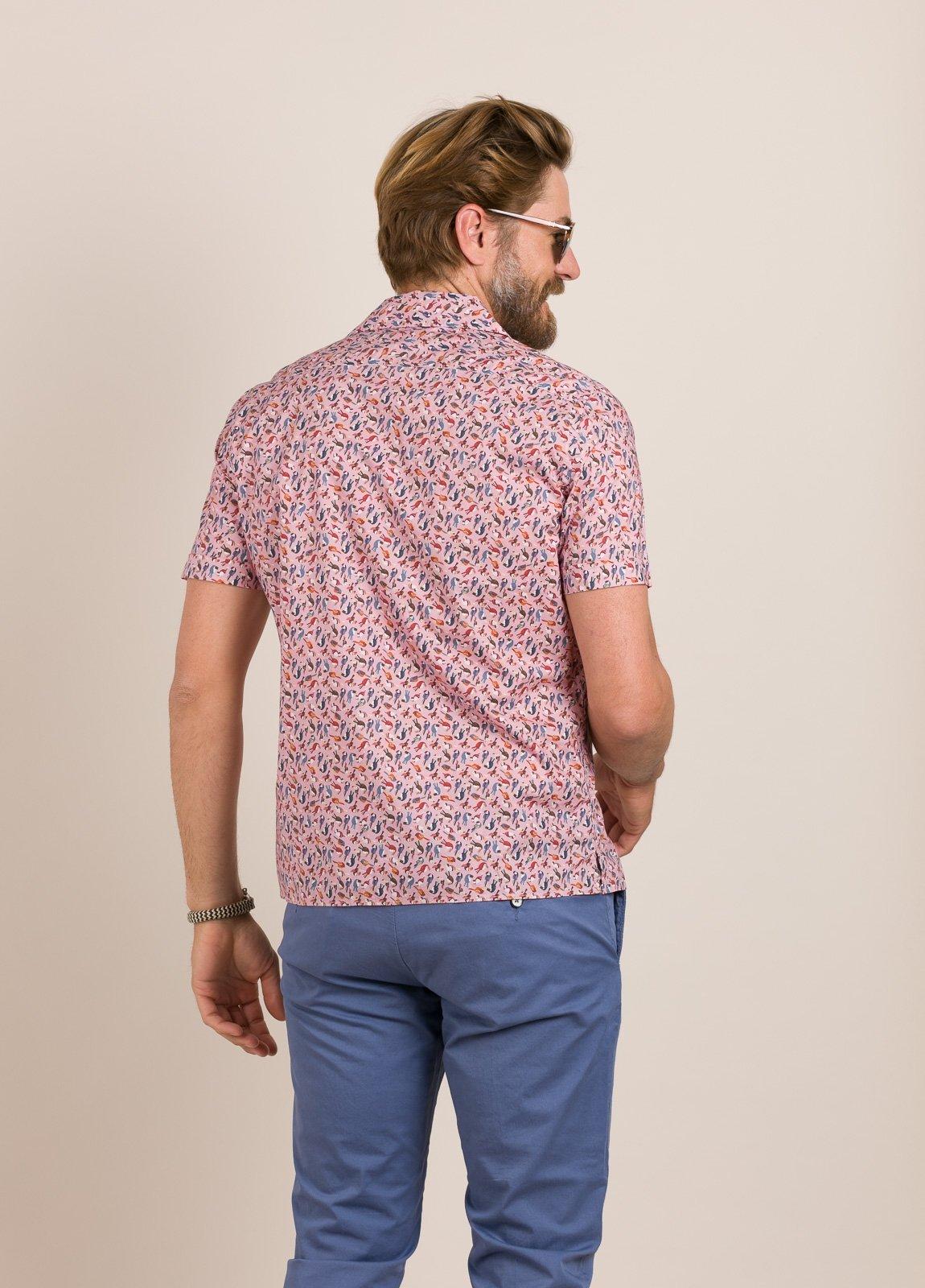 Camisa sport FUREST COLECCIÓN modelo HAWAI rosa - Ítem4