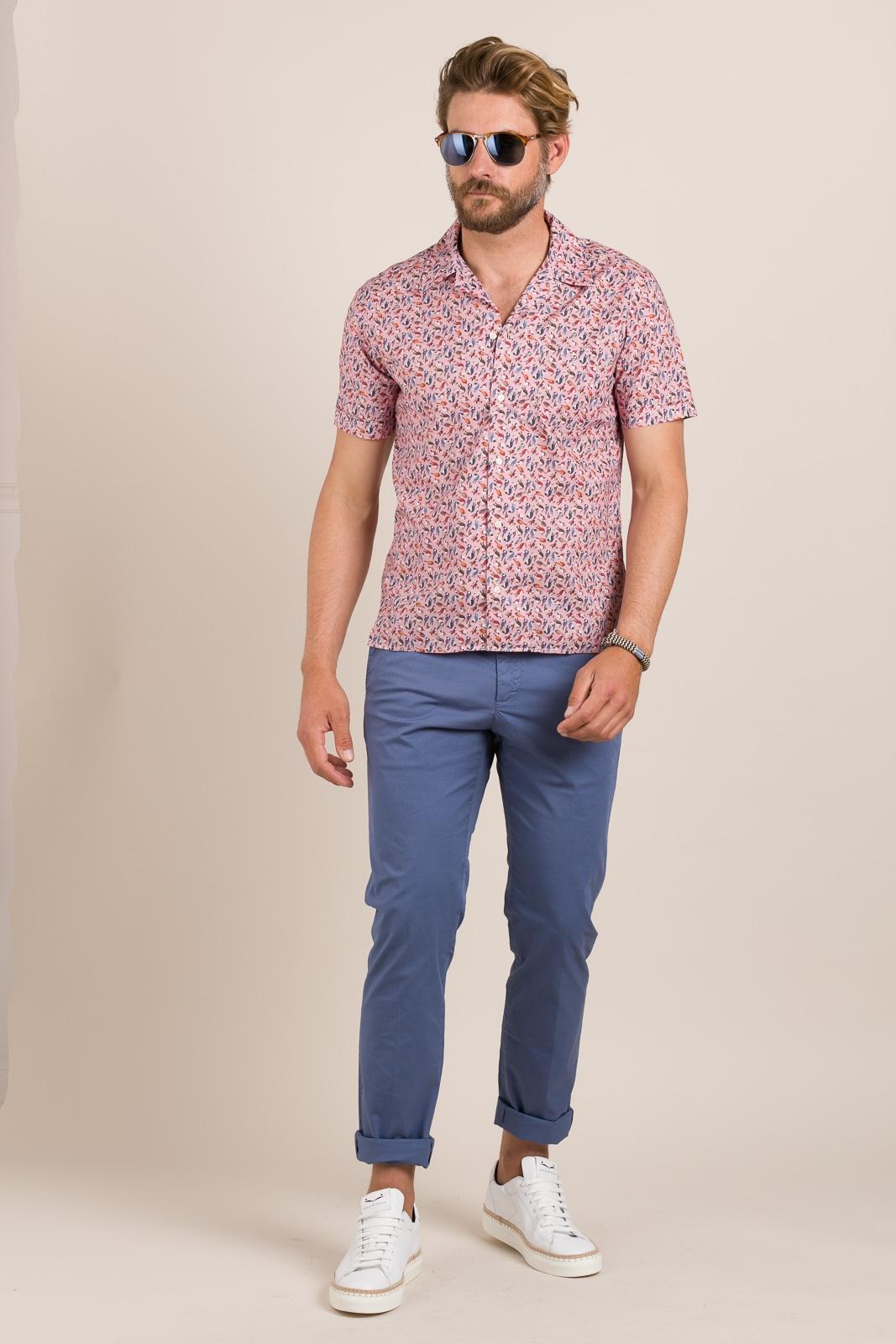 Camisa sport FUREST COLECCIÓN modelo HAWAI rosa - Ítem3