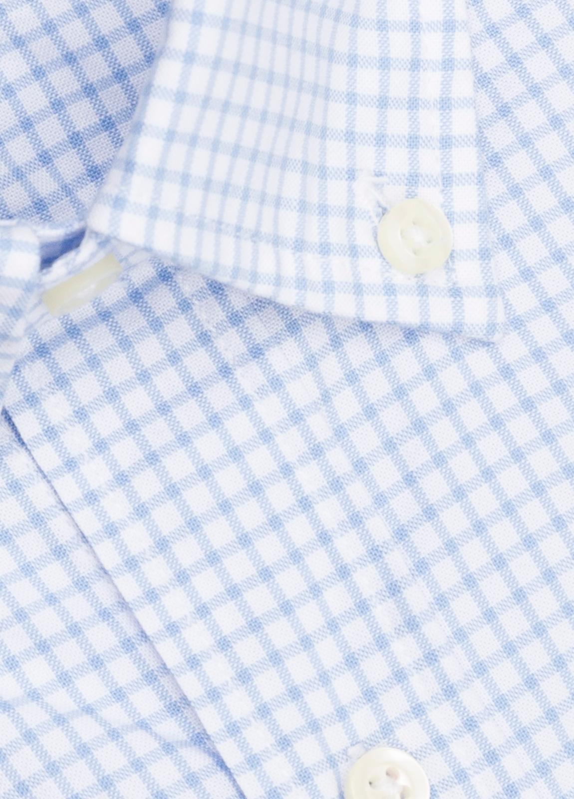 Camisa M/Corta sport FUREST COLECCIÓN Regular FIT cuadros celeste - Ítem1