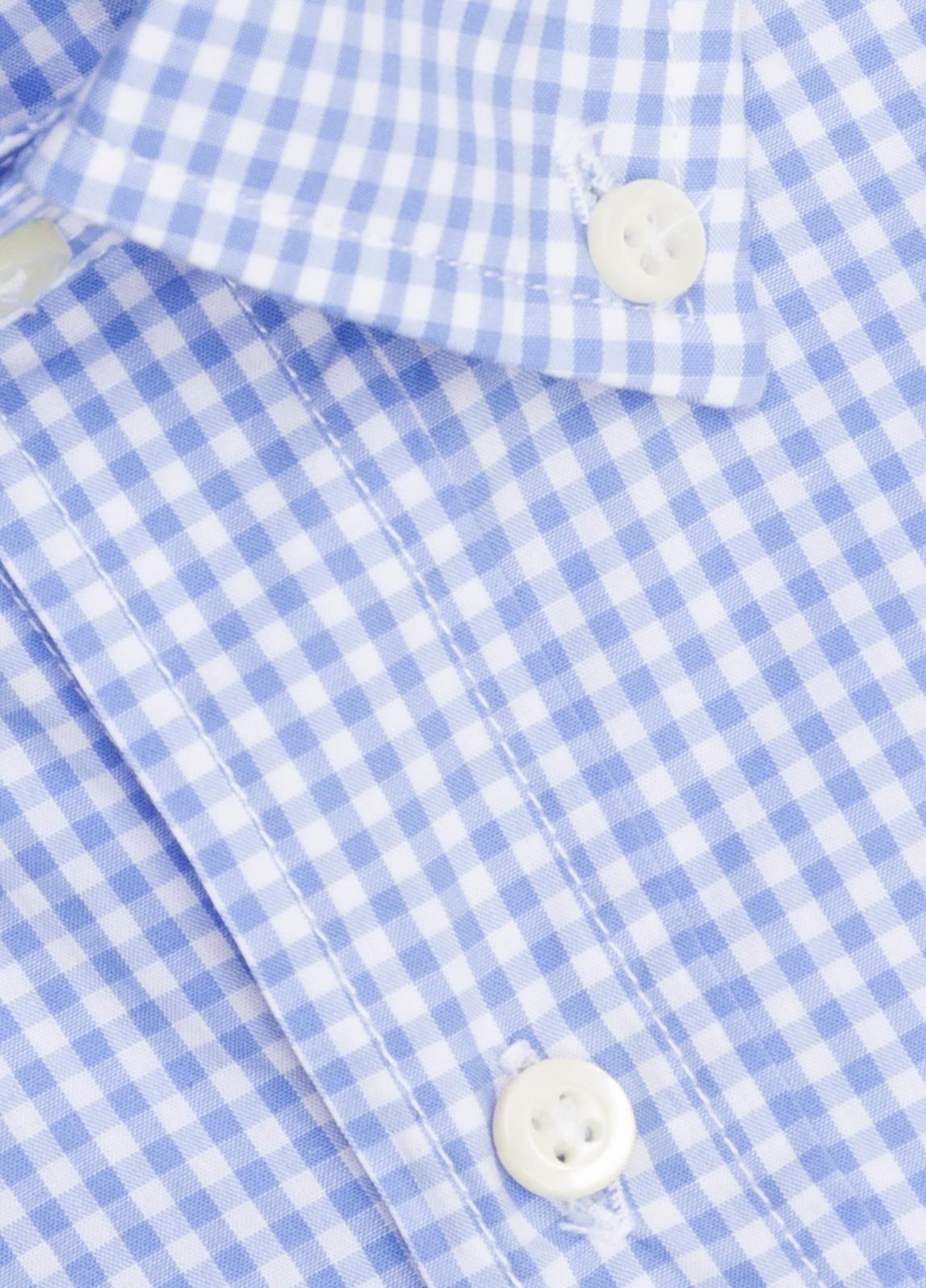 Camisa M/Corta sport FUREST COLECCIÓN Regular FIT vichy celeste - Ítem1