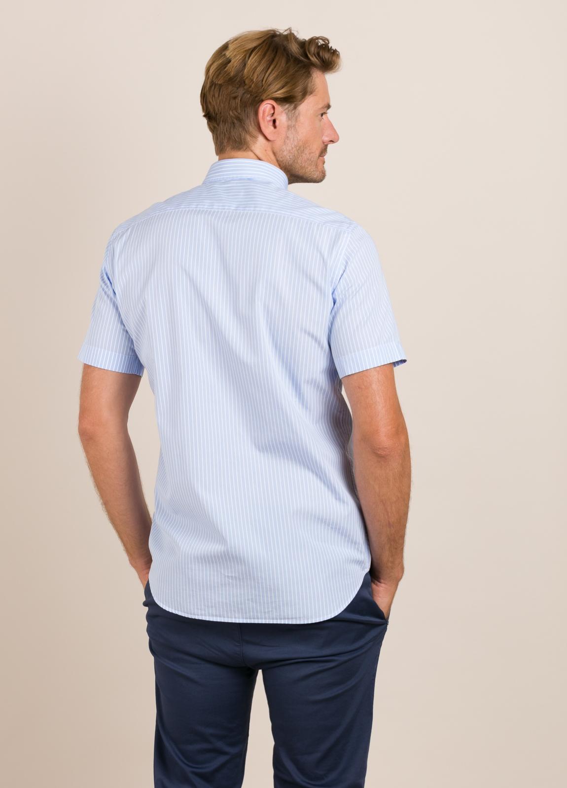 Camisa M/Corta sport FUREST COLECCIÓN Regular FIT rayas celeste - Ítem2