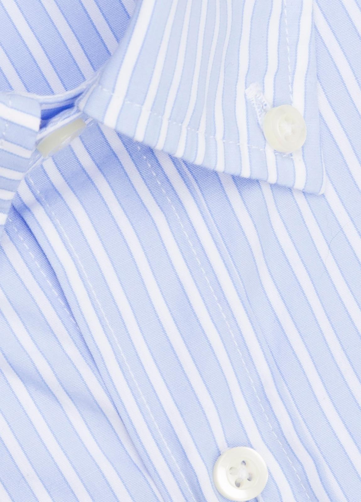Camisa M/Corta sport FUREST COLECCIÓN Regular FIT rayas celeste - Ítem1