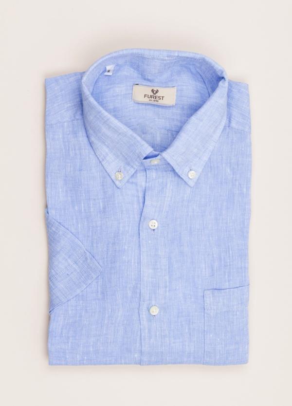 Camisa M/Corta sport FUREST COLECCIÓN Regular FIT Lino azul