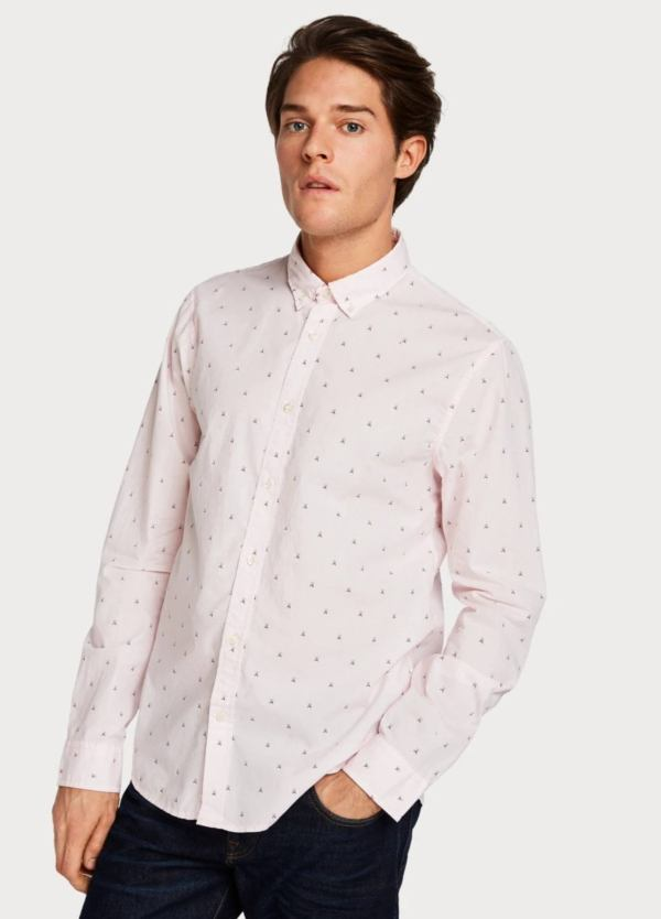 Camisa SCOTCH & SODA REGULAR FIT rosa