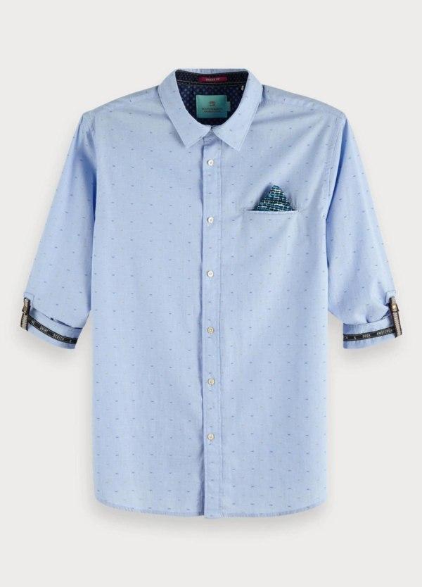 Camisa SCOTCH & SODA REGULAR FIT celeste