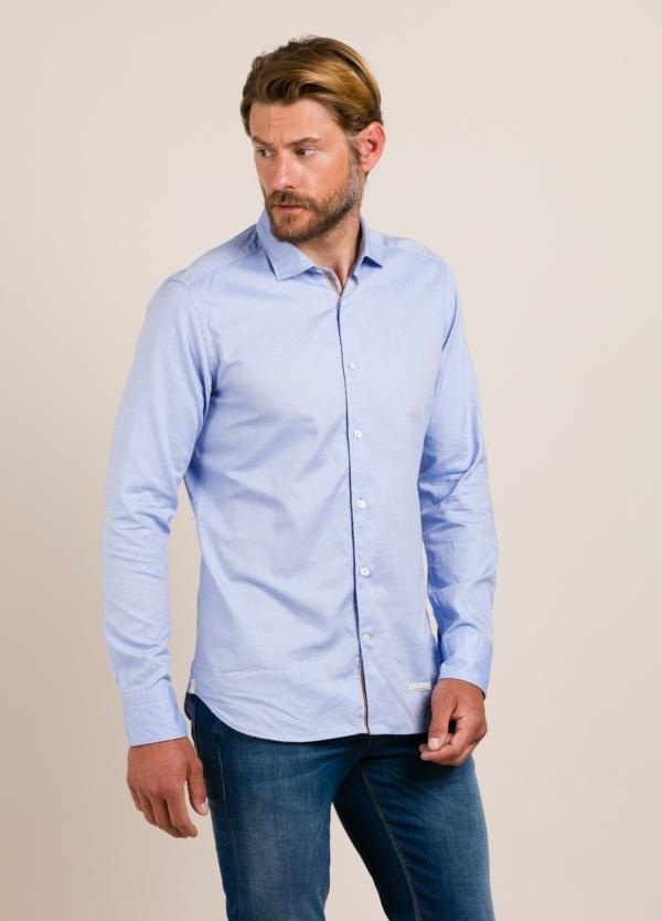 Camisa sport TINTORIA MATEI celeste