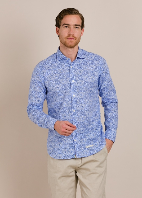 Camisa sport TINTORIA MATEI azul