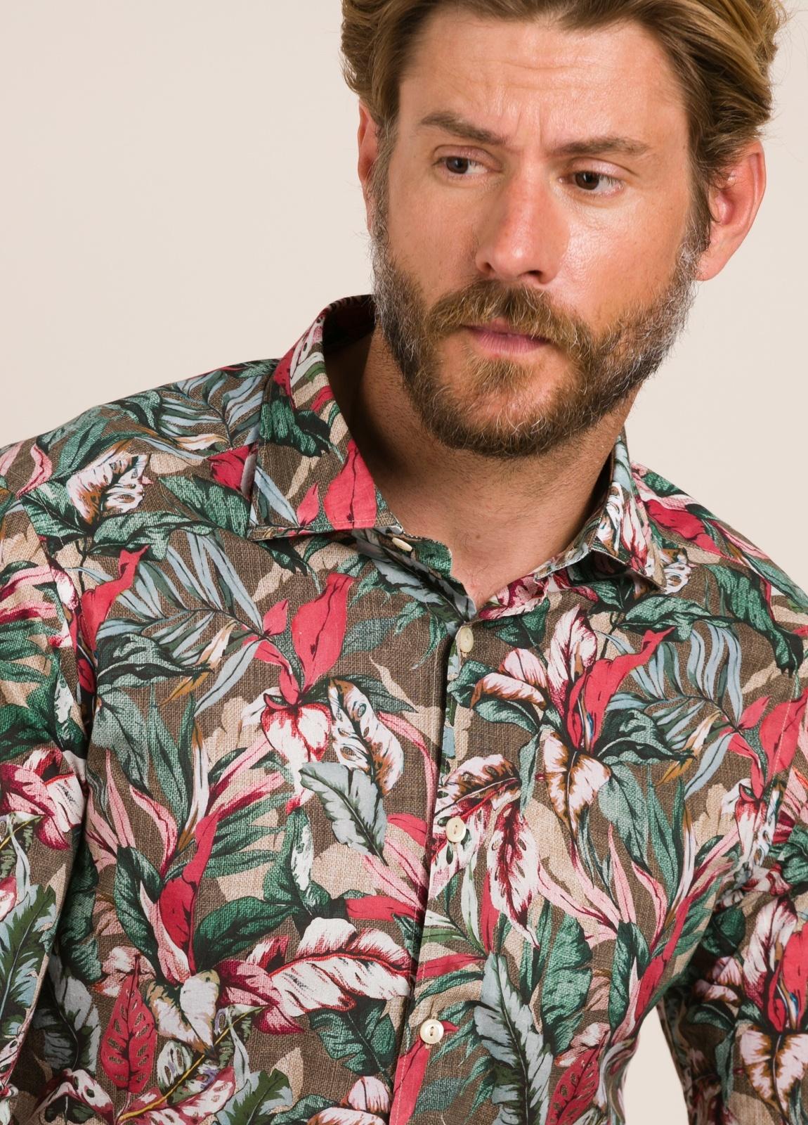 Camisa sport TINTORIA MATEI estampado tropical - Ítem3