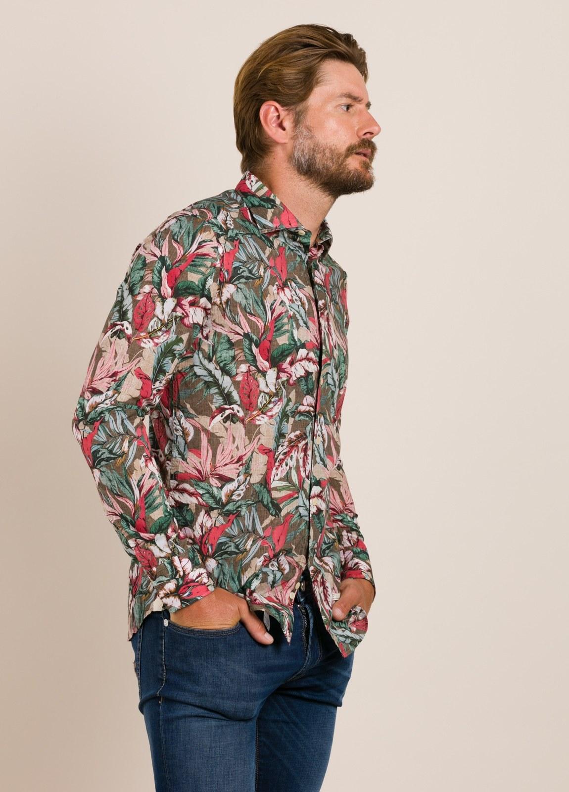 Camisa sport TINTORIA MATEI estampado tropical - Ítem1