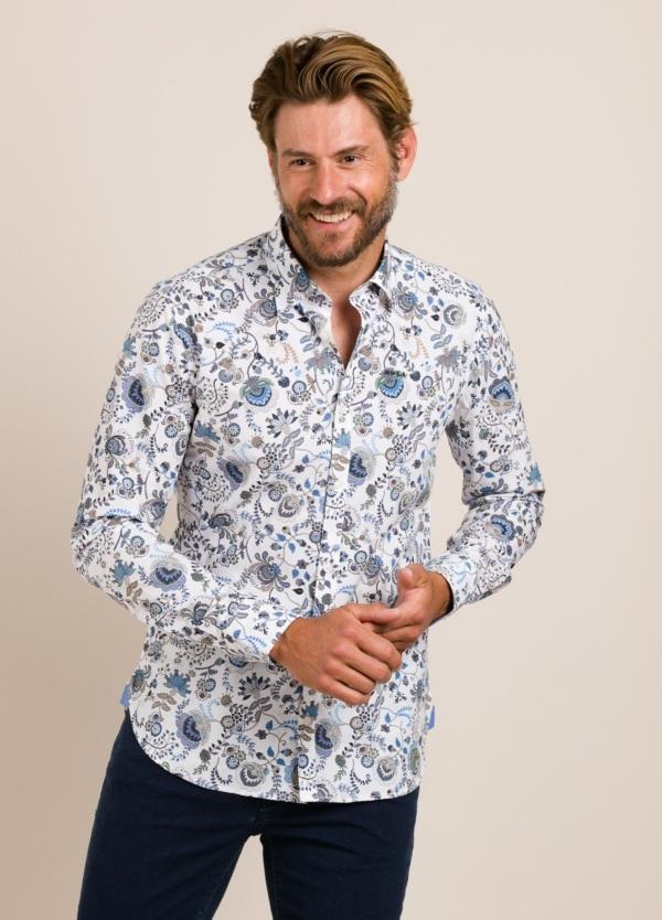 Camisa sport NEW ZEALAND dibujo blanco