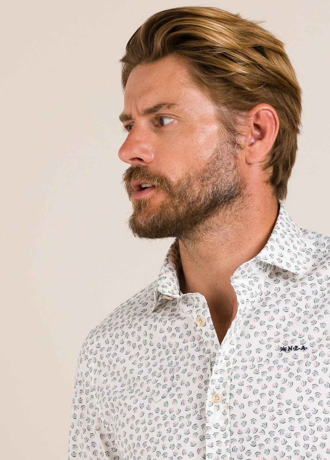 Camisa sport NEW ZEALAND dibujo blanco - Ítem3