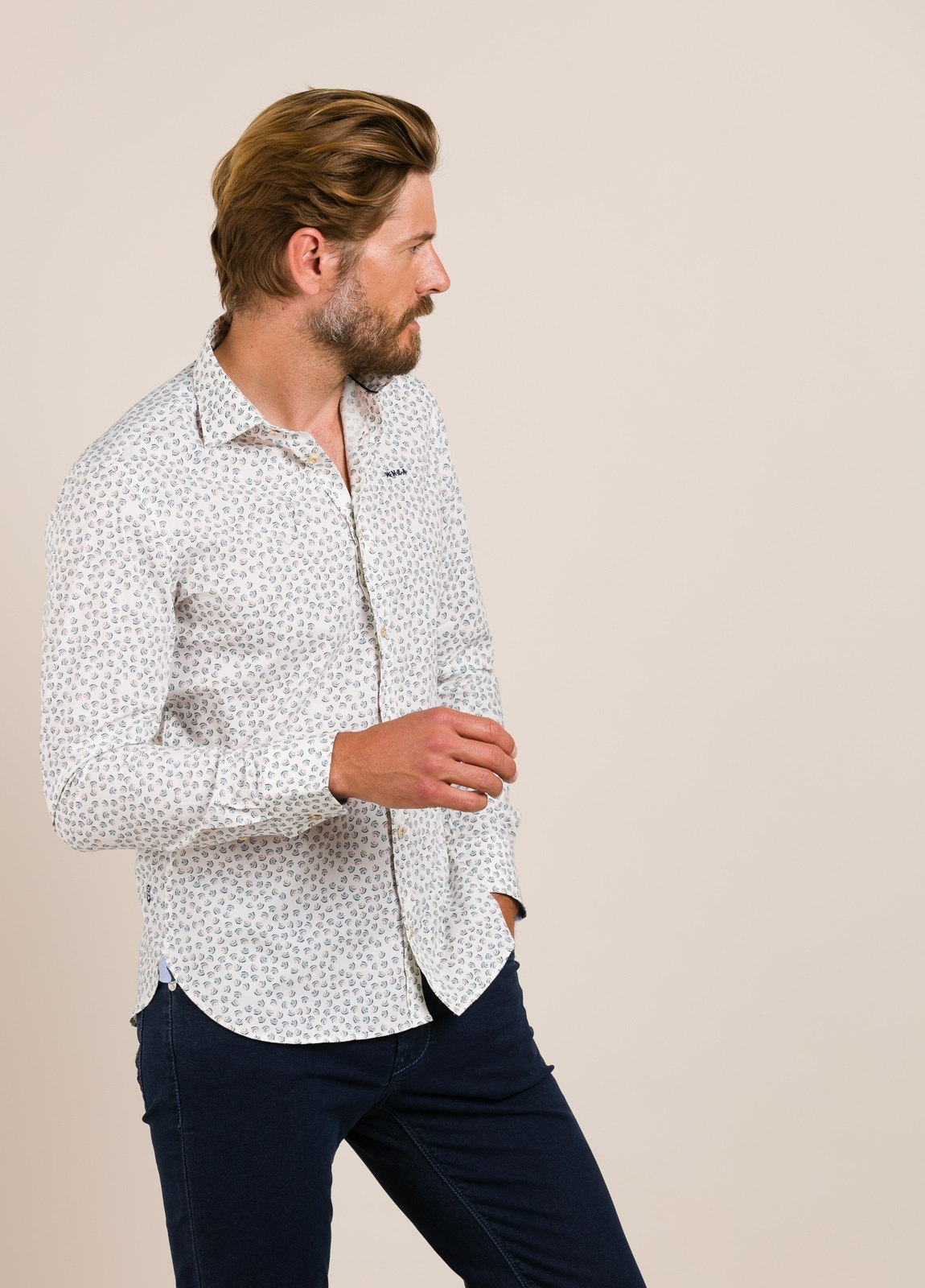 Camisa sport NEW ZEALAND dibujo blanco - Ítem2