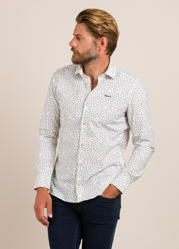 Camisa sport NEW ZEALAND dibujo blanco