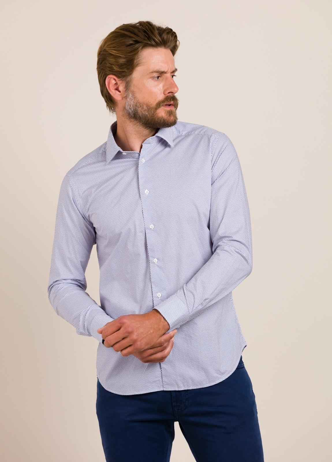 Camisa sport ROBERT FRIEDMAN dibujo geométrico