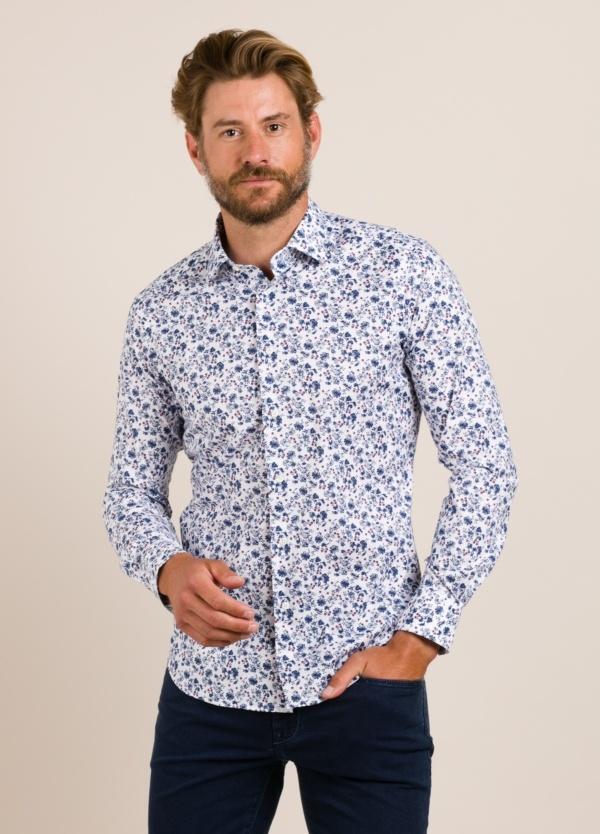 Camisa sport ROBERT FRIEDMAN dibujo azul