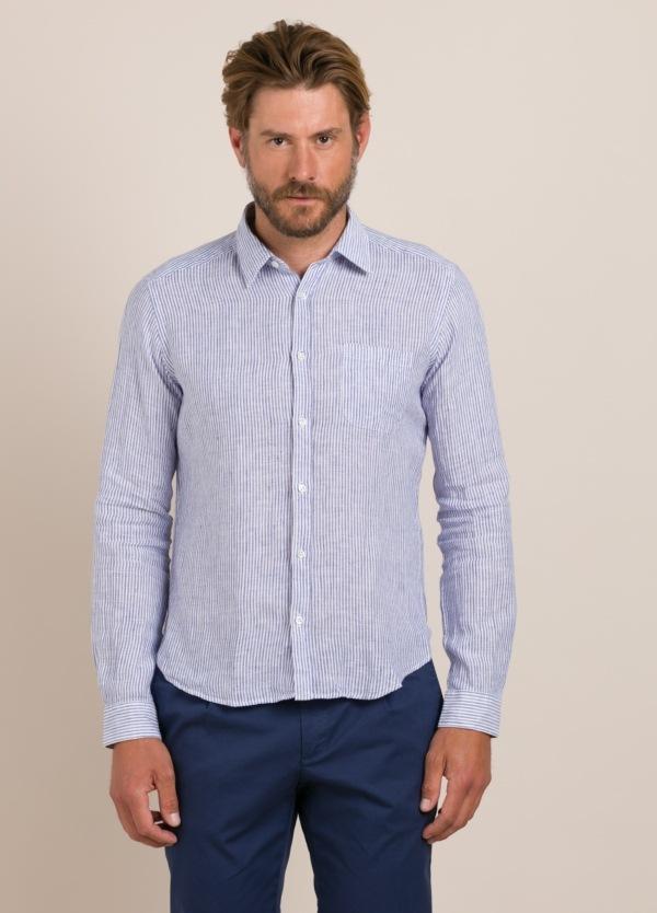 Camisa sport ROBERT FRIEDMAN lino rayas