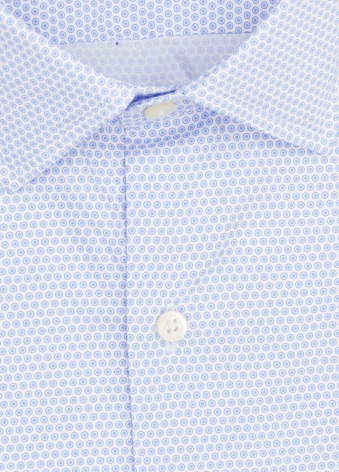 Camisa Casual Wear FUREST COLECCIÓN slim fit dibujo celeste - Ítem2