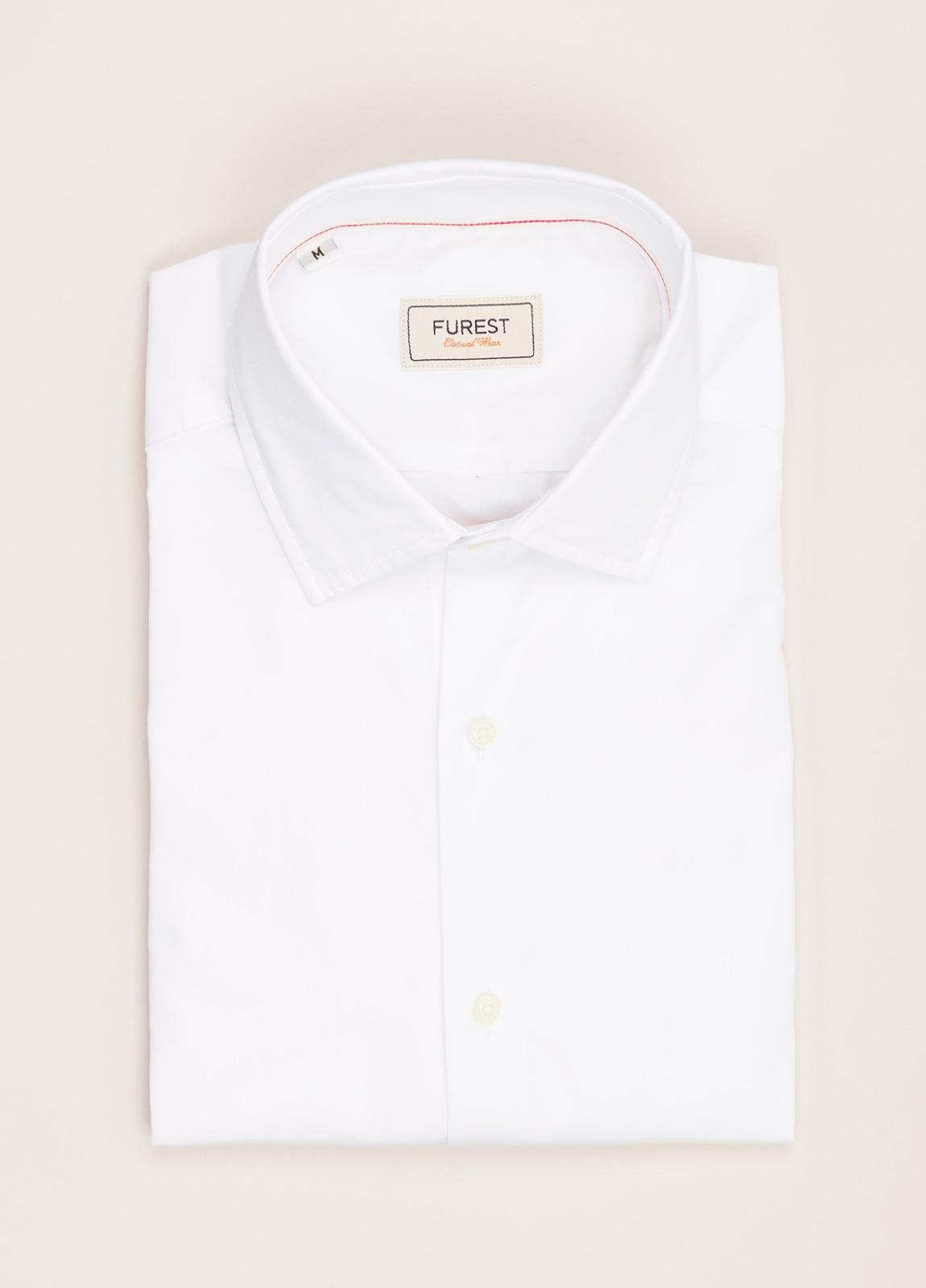 Camisa Casual Wear FUREST COLECCIÓN slim fit textura blanco