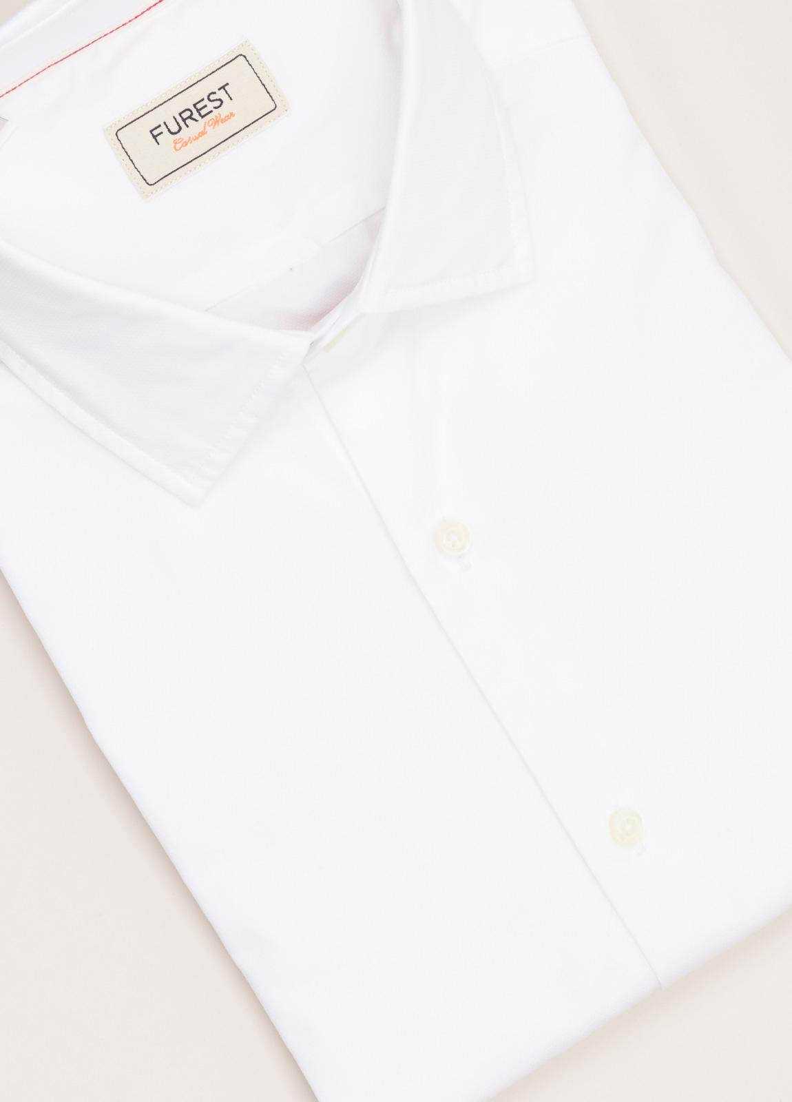 Camisa Casual Wear FUREST COLECCIÓN slim fit textura blanco - Ítem2