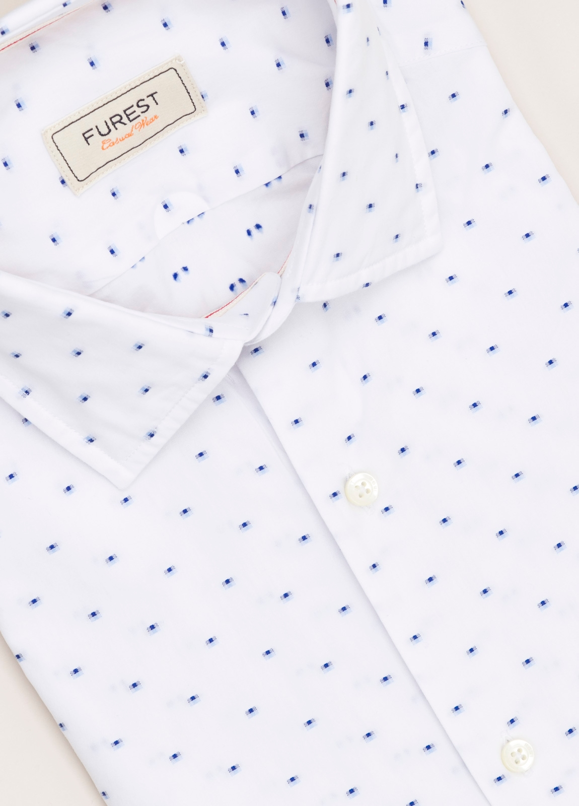 Camisa Casual Wear FUREST COLECCIÓN slim fit fil coupé blanco - Ítem1