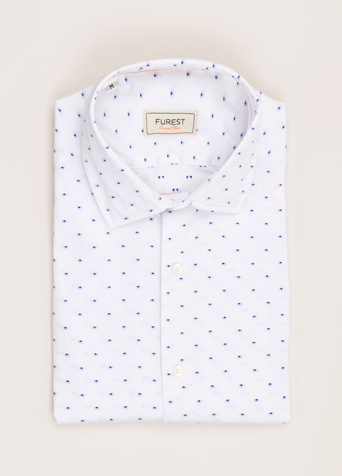 Camisa Casual Wear FUREST COLECCIÓN slim fit fil coupé blanco