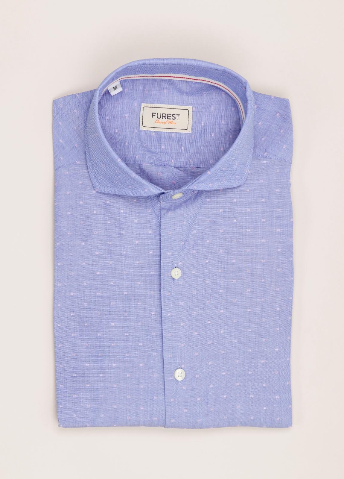 Camisa Casual Wear FUREST COLECCIÓN slim fit fil coupé azul