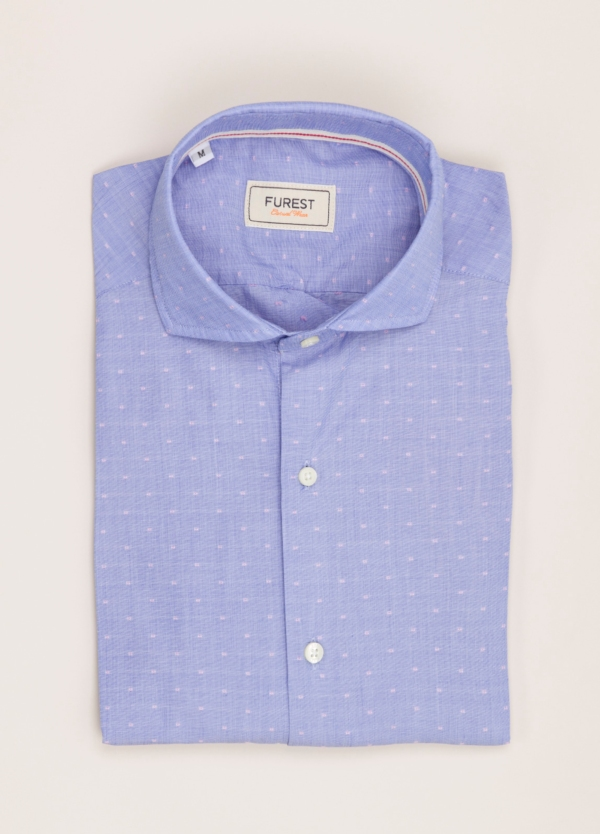 Camisa Casual Wear FUREST COLECCIÓN slim fit fil coupé azul
