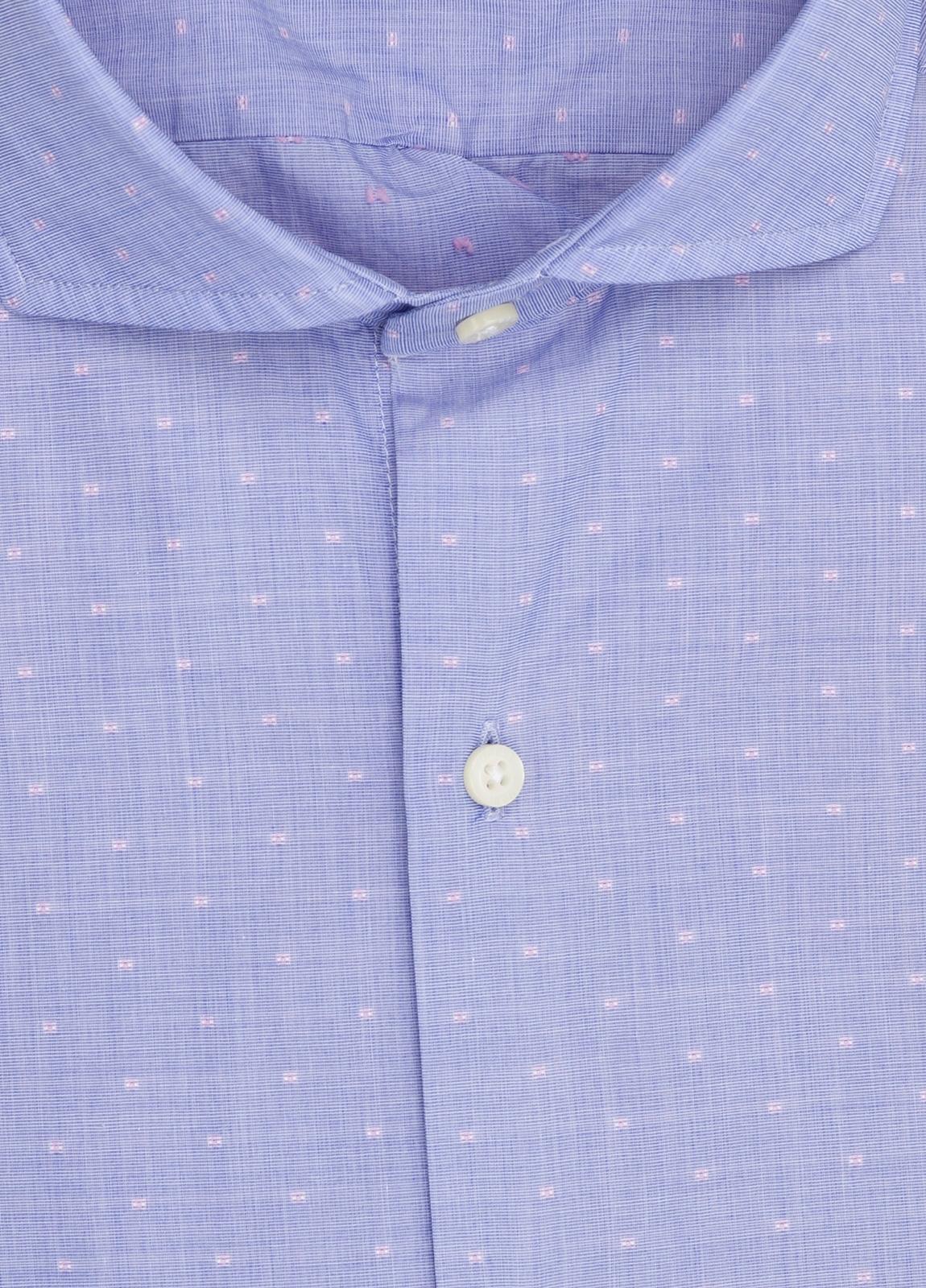 Camisa Casual Wear FUREST COLECCIÓN slim fit fil coupé azul - Ítem2
