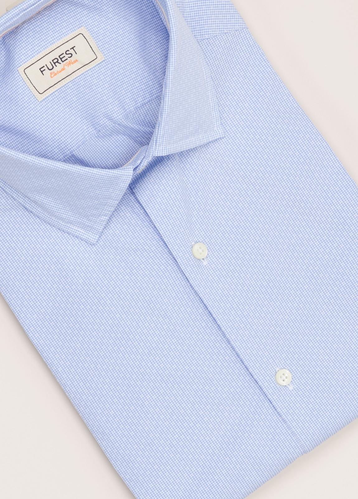 Camisa Casual Wear FUREST COLECCIÓN slim fit fil dibujo celeste - Ítem2